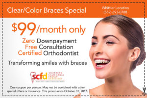 Dental Promo Whittier-Colored Braces
