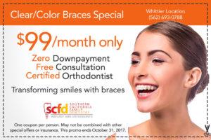 Dental Promo Whittier-Colored Braces