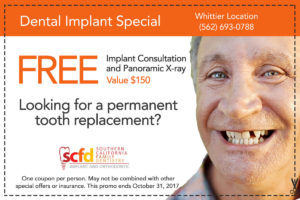 Dental Promo Whittier-Dental Implant Consultation