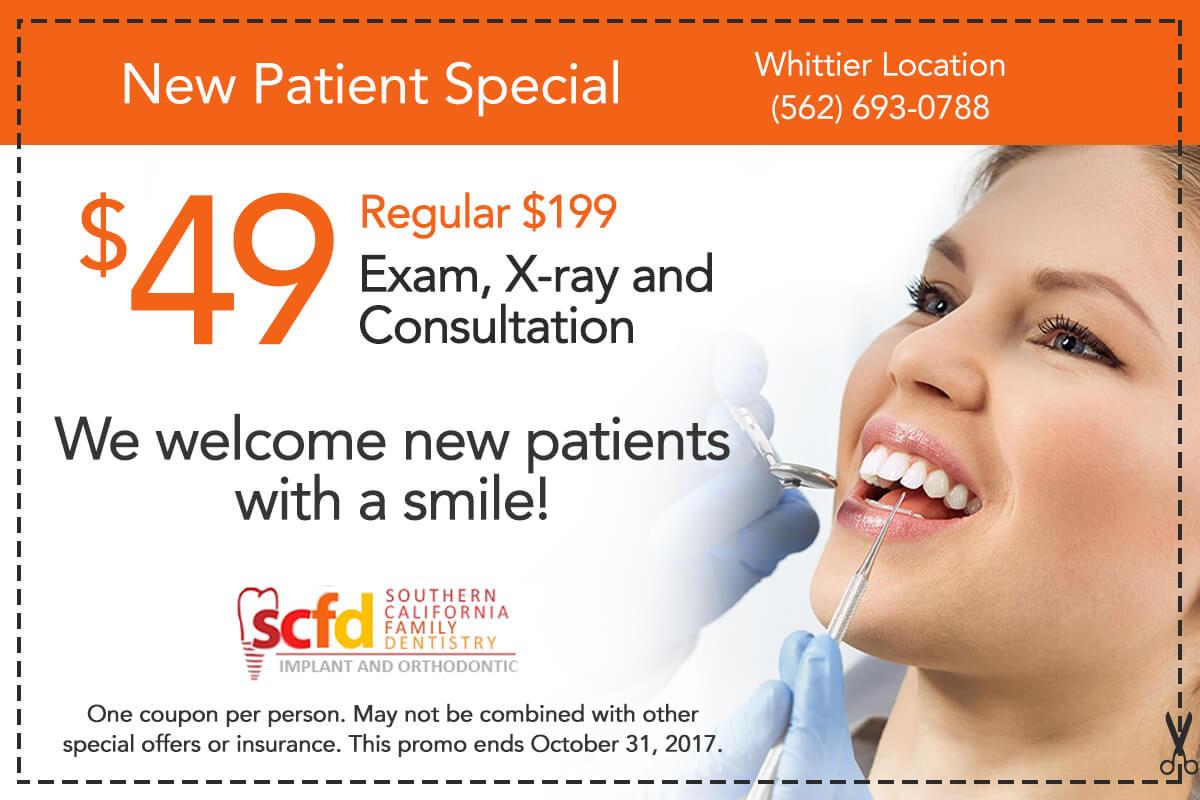 Dental Promo Whittier-New Patient