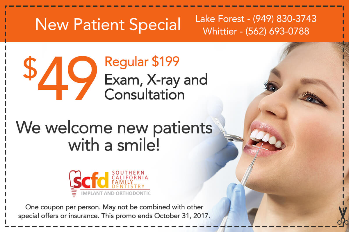 Southern California Family Dentistry - New Patient Special Offer
